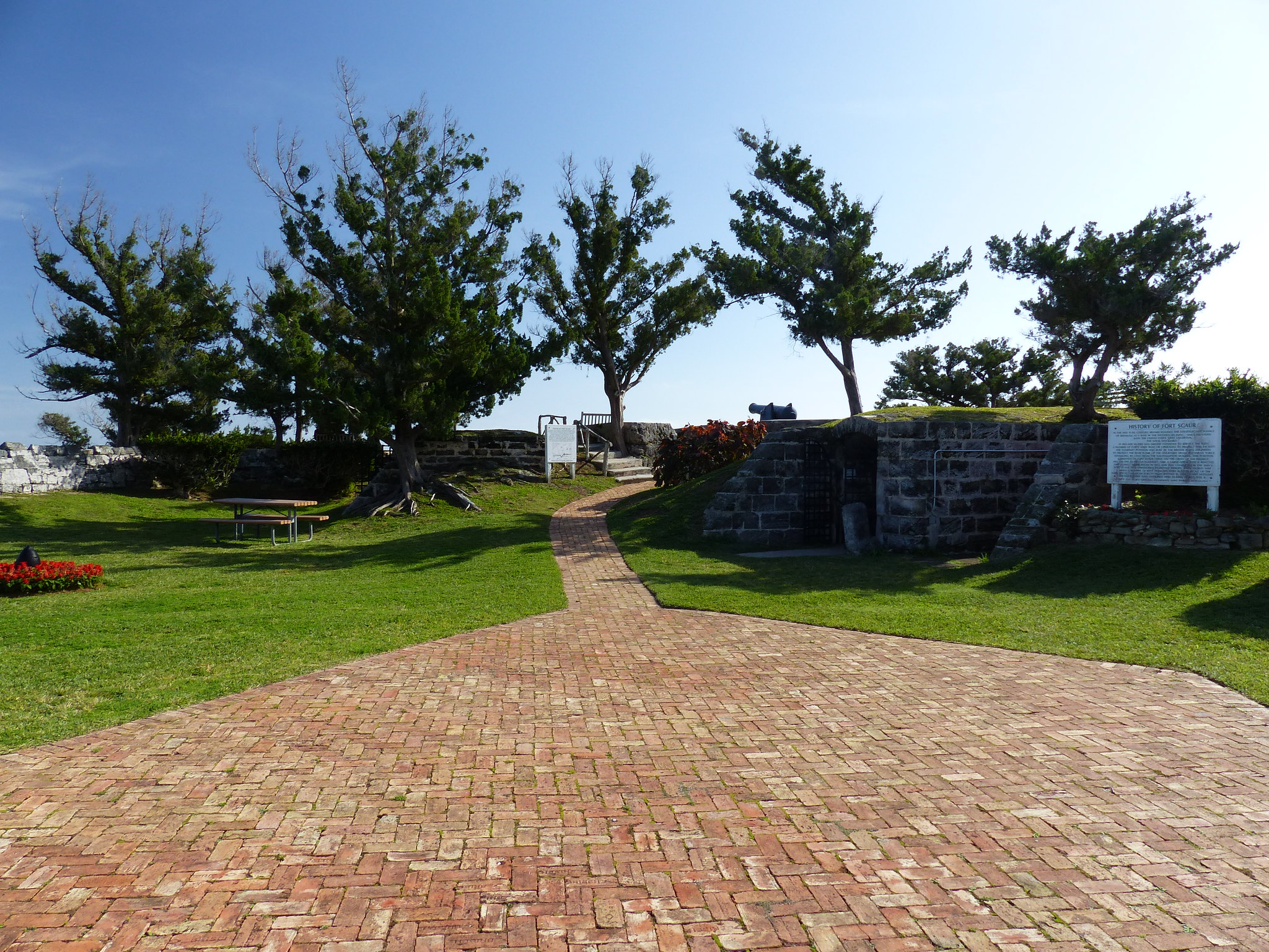 Inside Scaur Hill Fort.