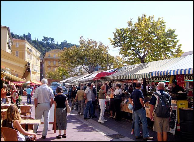 Street Market,  Nice, France.