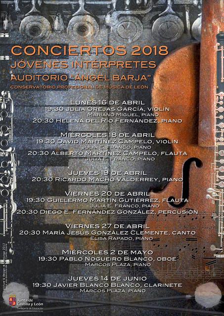 CICLO DE CONCIERTOS DE JÓVENES INTÉRPRETES 2018 DEL CONSERVATORIO DE LEÓN