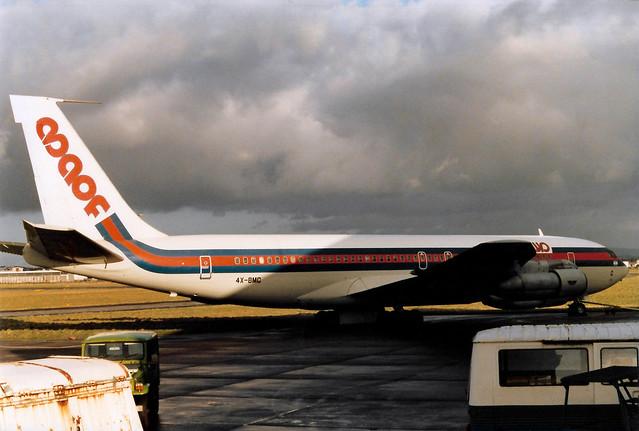 4X-BMC Boeing 707-336B cn 20456 ln 851 Maof Airlines Shannon 15Jan86