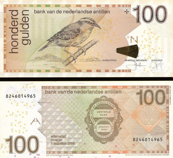100 Guldenov Holandské Antily 2016, P31h