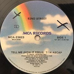 52ND STREET:TELL ME(HOW IT FEELS)(LABEL SIDE-A)
