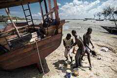 Zanzibar, Nungwi, chantier naval