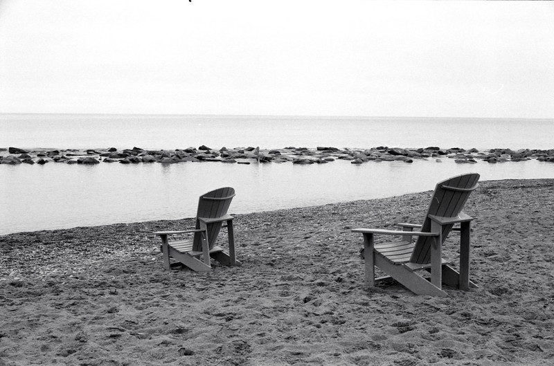 Pair of Seats Near the Water