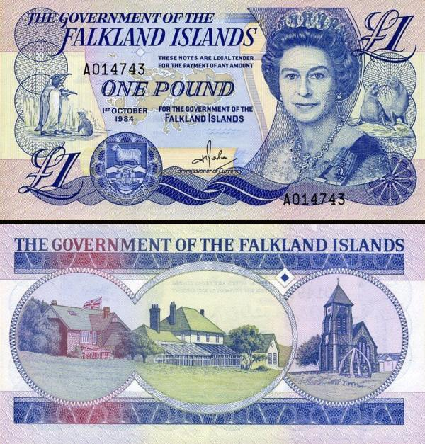 1 falklandská libra Falklandy 1984, P13