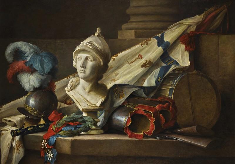 Anne Vallayer-Coster - Bodegón con busto de Minerva (1777)