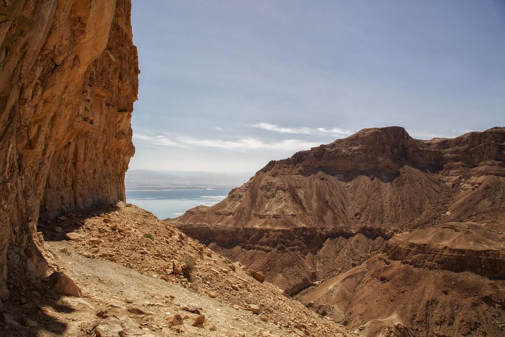 Kibbuts Ein Gedi Israel Det døde hav Wadi Arugot Jerusalem