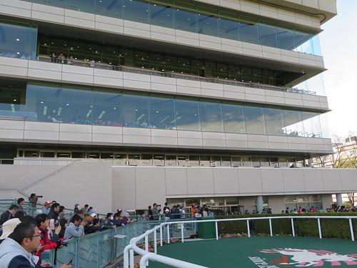 福島競馬場の一部分の屋外席