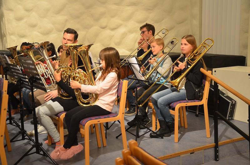 Bariton och trombon i Framåt Brass