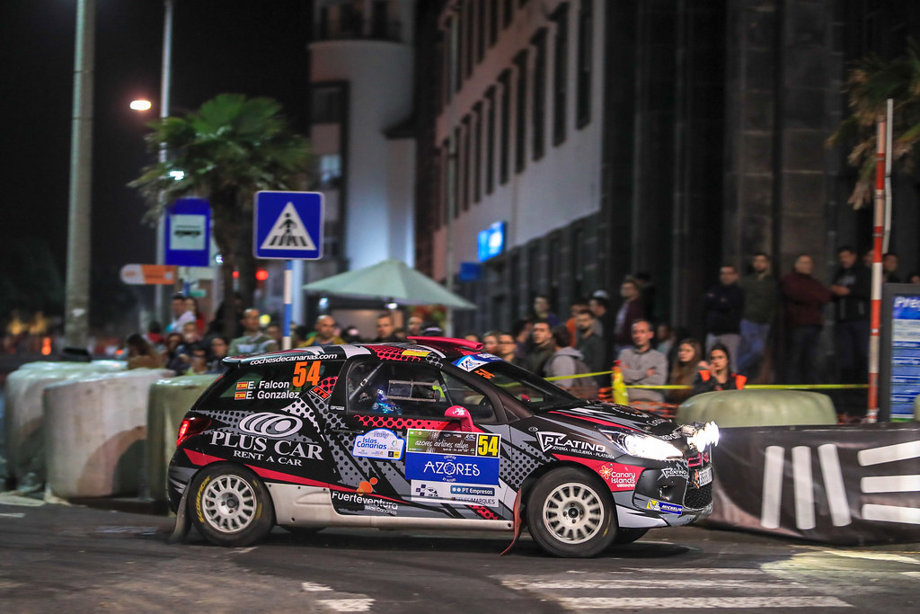 54 FALCON RODRIGUEZ Emma Maria, (esp) GONZALES DELGADO Eduardo (esp), Citroen DS3 R3T, action during the 2018 European Rally Championship ERC Azores rally,  from March 22 to 24, at Ponta Delgada Portugal - Photo Jorge Cunha / DPPI