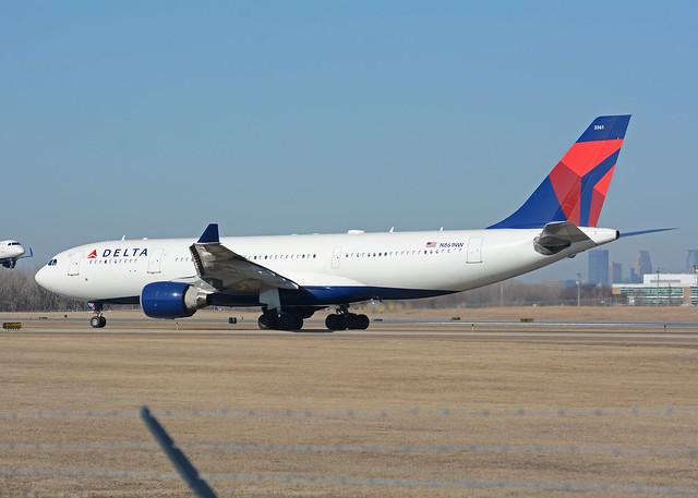 Delta Airlines Airbus A330, Nikon D7100, AF-S Nikkor 80-400mm f/4.5-5.6G ED VR