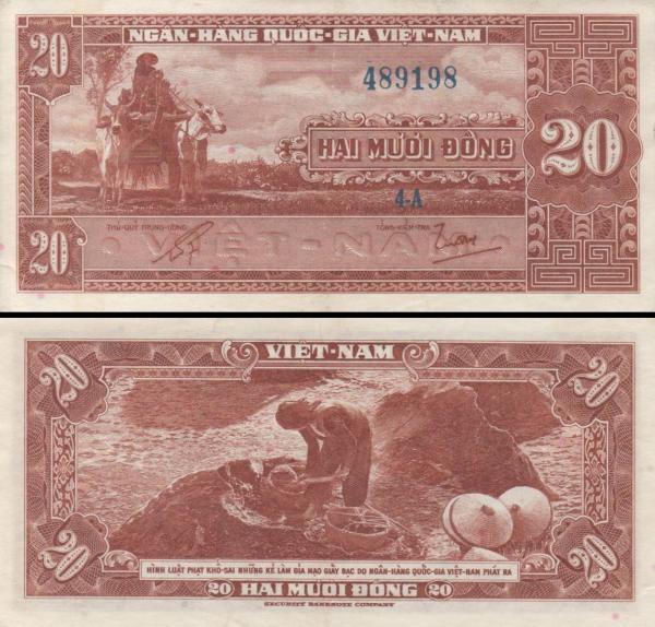 20 Dong Južný Vietnam 1962, P6a