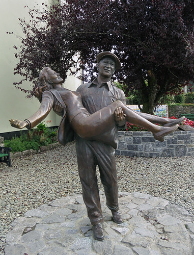 Statue of John Wayne & Maureen O'Hara in Cong, Ireland
