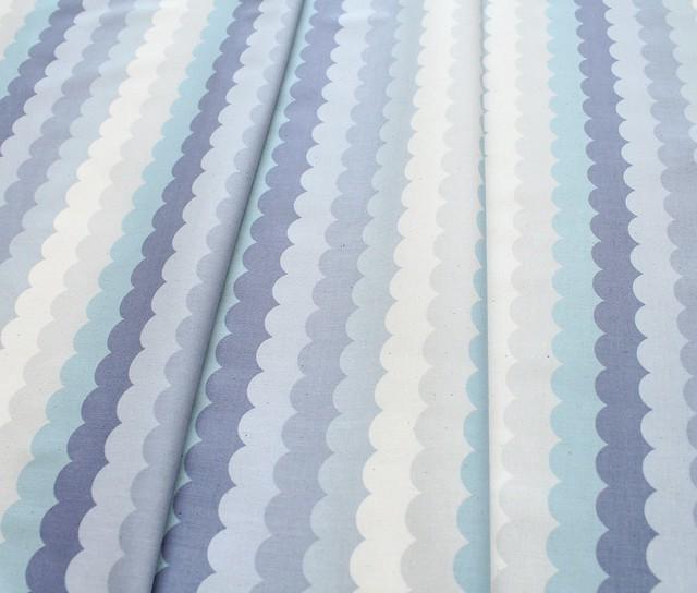 COTTON+STEEL Panorama Cloud 5172-01 Scallops Arctic