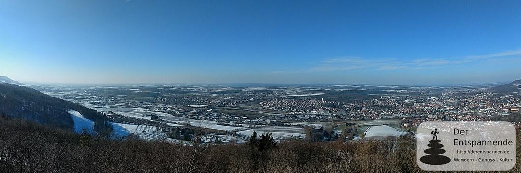 Panorama vom Aalbäumle-Turm auf Aalen