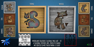 ZcZ Woodland Creatures Wall Art V2