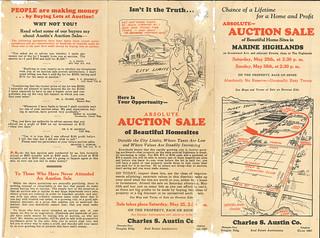 Marine Highlands auction brochure, 1929