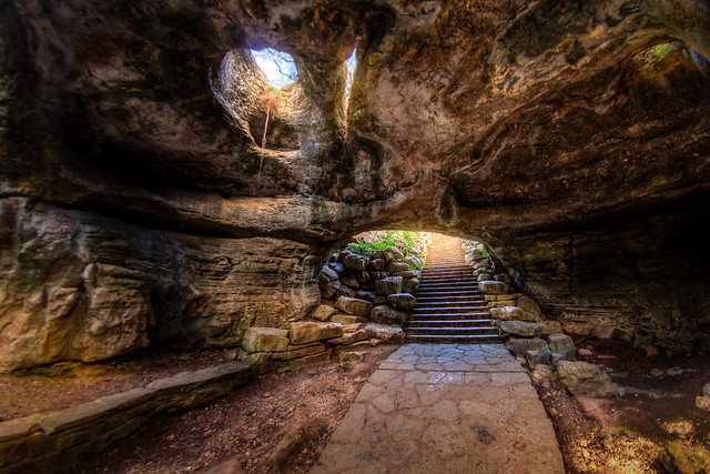 Stairs out of Longhorn Cavern