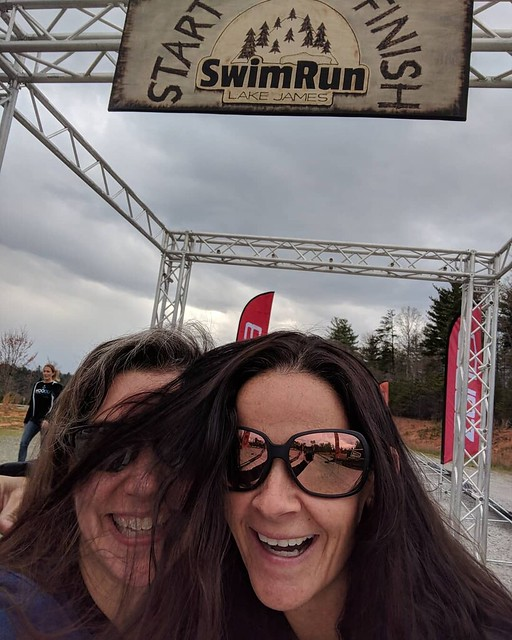 SwimRun Lake James packet pickup.