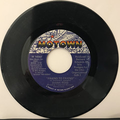 DIANA ROSS:UPSIDE DOWN(RECORD SIDE-B)