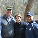 State Reps. Livvy Floren (R-Greenwich, Stamford), Mike Bocchino (R-Greenwich), and Fred Camillo (R-Greenwich) helped restock the Mianus River with Brook and Rainbow Trout on April 9, 2018.