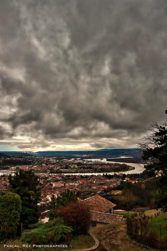 La riante Vallée du Rhône vue depuis La Celle.