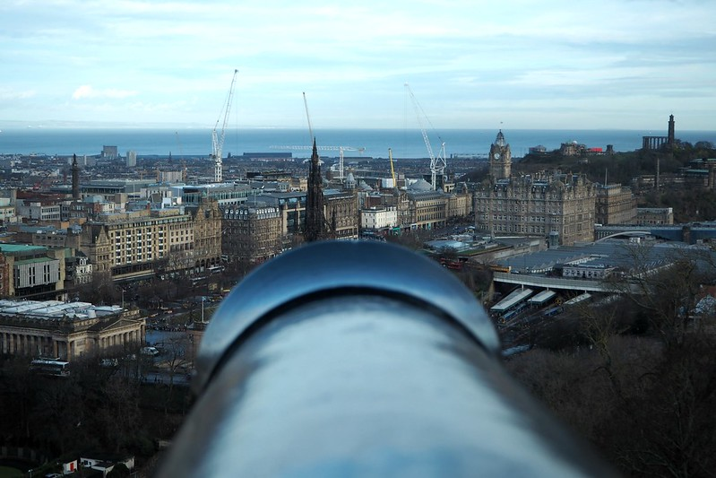 Line of Fire from Edinburgh Castle