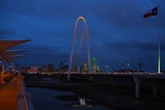 Margaret Hunt Hill Bridge @ Blue Hour