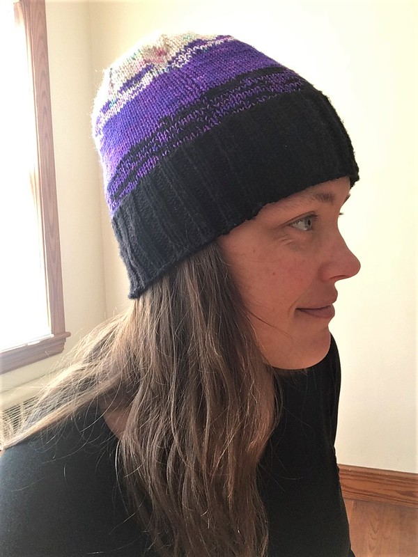 Meraki Hat in Hedgehog Fibres and Malabrigo