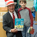 "In honor of Dr. Seuss' birthday and donning a ""Cat in the Hat"" hat, State Representative Craig Fishbein recently spent part of a morning reading to 5th graders at Wallingford's Mary Fritz Elementary School.  Despite a winter storm, Rep. Fishbein was able to read two books – the Seuss classic ""What Pet Should I Get"" and ""What Do You Do With An Idea?"" by Kobi Yamada and illustrated by Mae Besom –  to Michelle Jones and Jenn Leonard's classes that were assembled inside the media center.  After he finished reading and talking to the students about his role in the legislature, Rep. Fishbein donated the Seuss book to the school and gave his hat to one lucky student.  Unfortunately, the storm caused the cancellation of opening night of Moran Middle School's production of ""Seussical"", but the kids at Mary Fritz Elementary were entertained by the group who were roaming the halls and performing songs from the show."