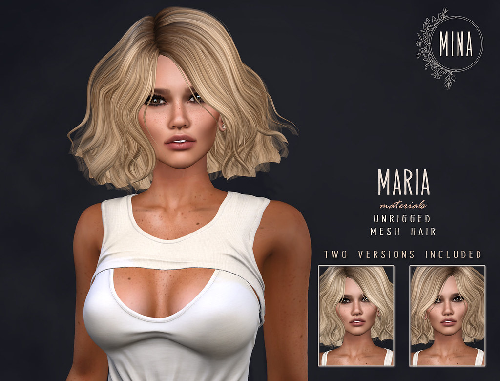 MINA Hair - Maria for Blush - TeleportHub.com Live!