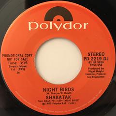 SHAKATAK:NIGHT BIRDS(LABEL SIDE-A)