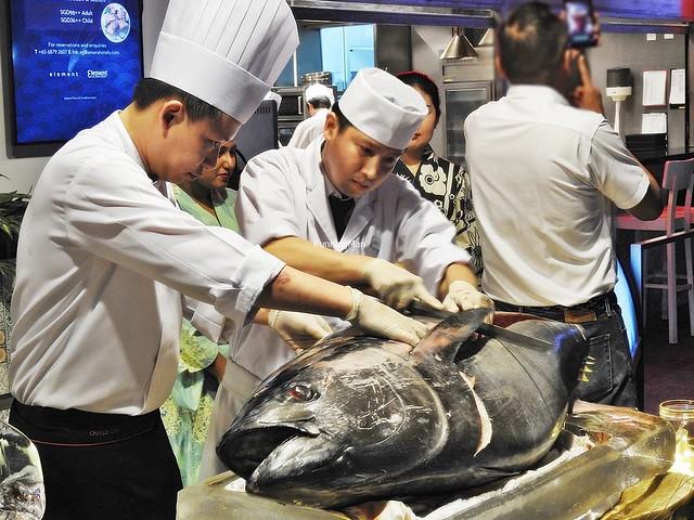Executive Chef Charles Goh & Japanese Chef Yow Mun Fai