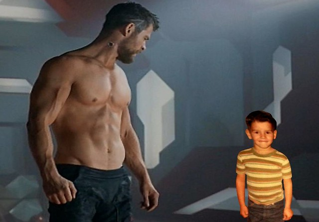 My babysitter, Thor, lets me stay up late and watch Avenger movies. He acts out the scenes.