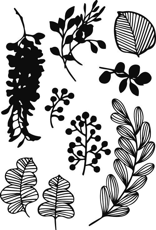 Papercut Foliage Templates