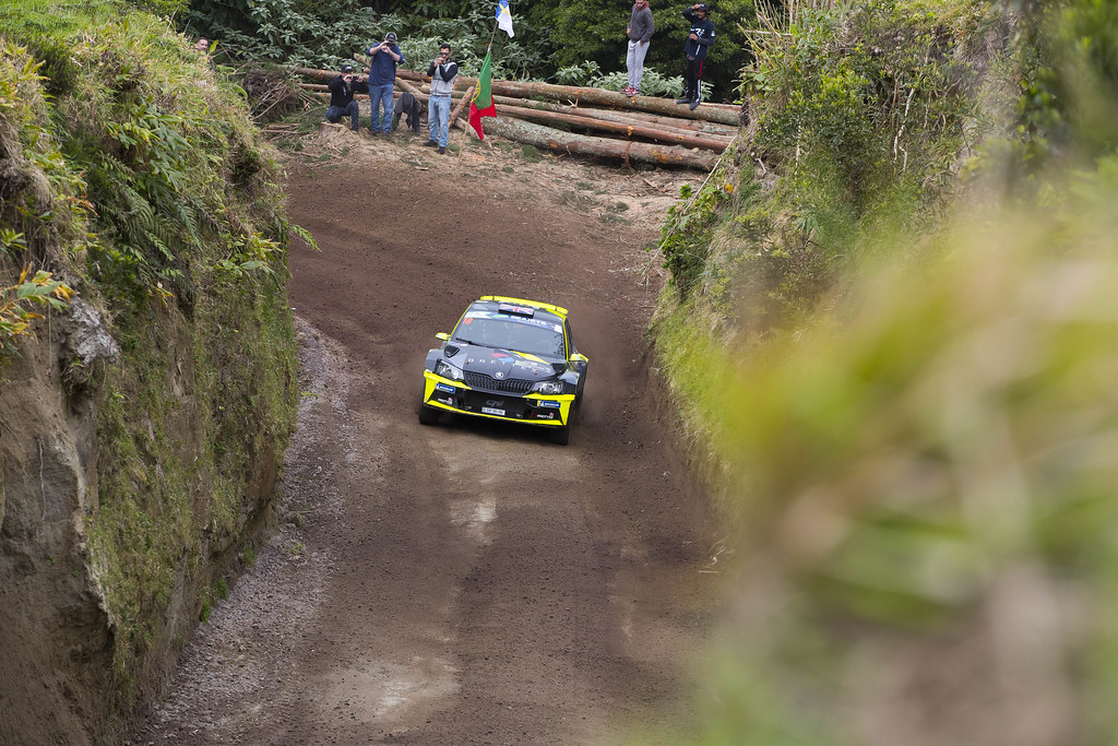 18 YATES Rhys ( gbr),                         SKODA FABIA R5, action during the 2018 European Rally Championship ERC Azores rally,  from March 22 to 24, at Ponta Delgada Portugal - Photo Gregory Lenormand / DPPI