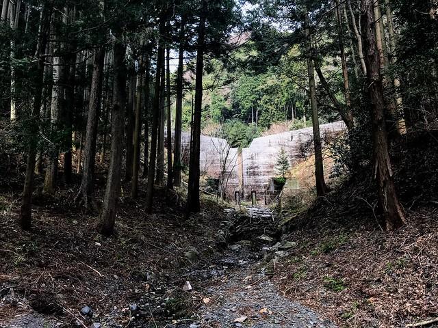 入道ヶ岳 支尾根 砂防ダム