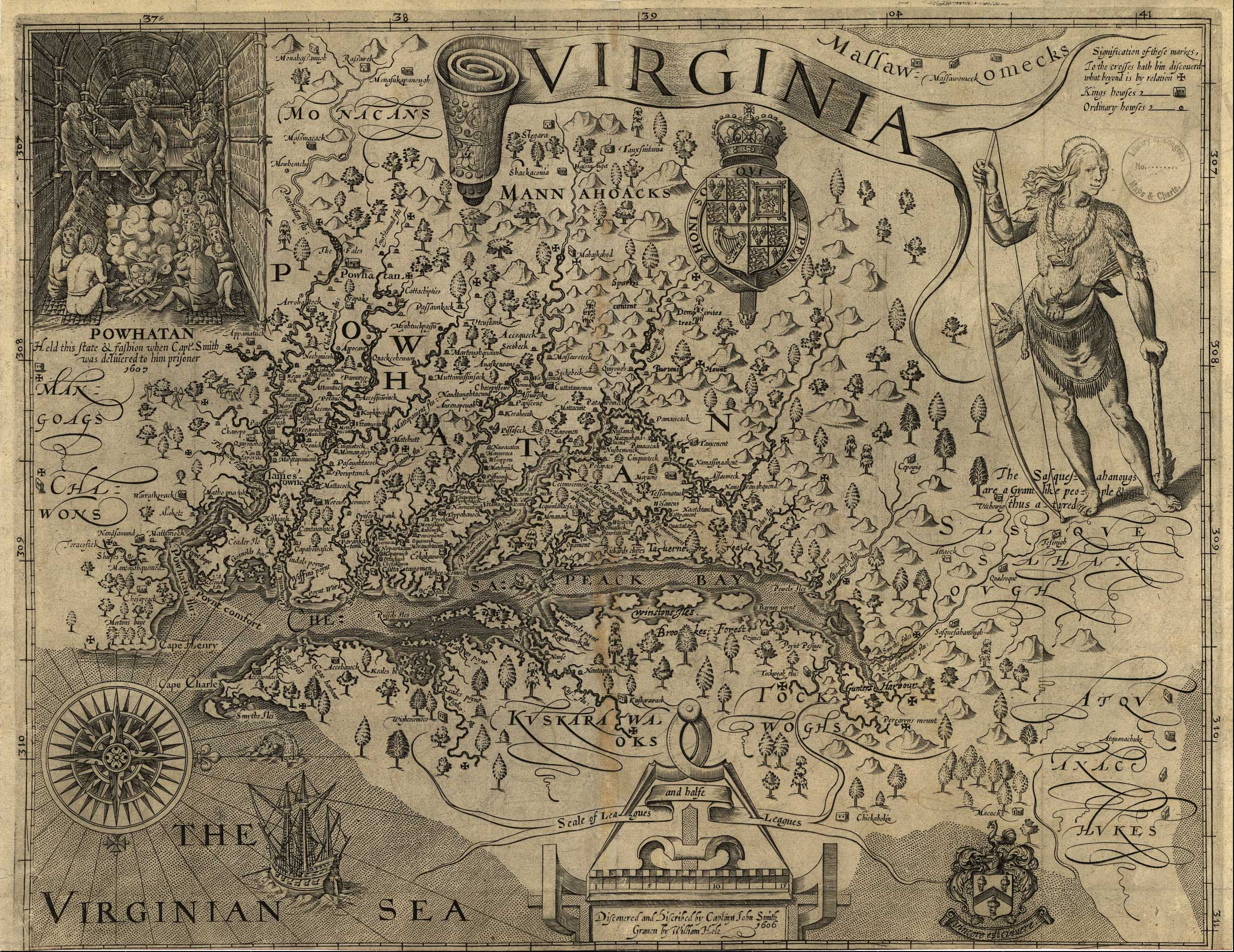 1612 map of Virginia