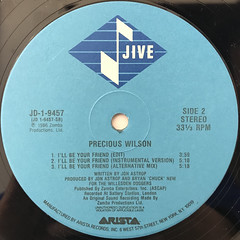 PRECIOUS WILSON:I'LL BE YOUR FRIEND(LABEL SIDE-B)