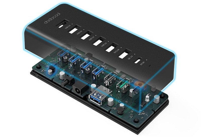 dodocool 7ポート USBハブ 写真 (4)