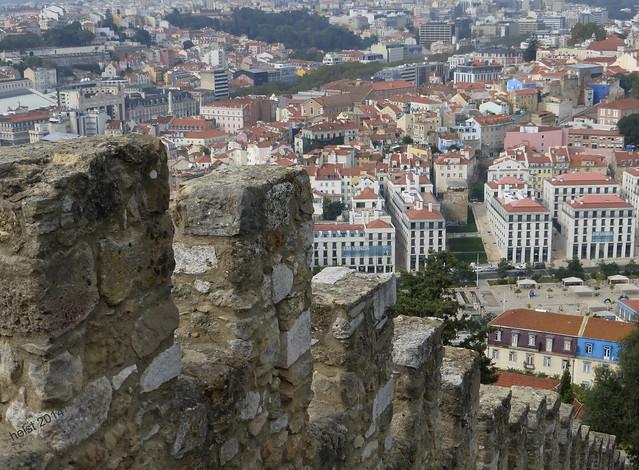 Looking down from Castelo, Panasonic DMC-TZ36