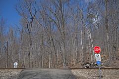 'STOP' -- Railroad Crossing at Thoroughfare Gap (VA) March 2018