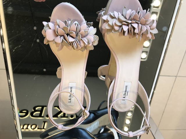 L K Bennet blush colored sandals