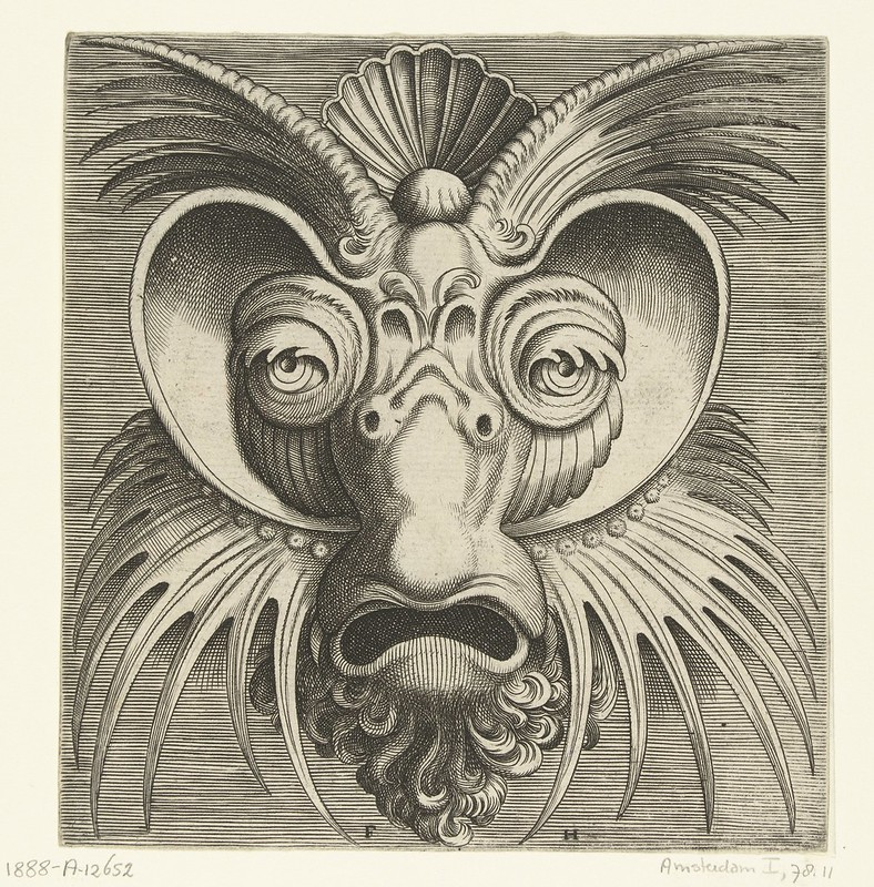 007-Flemish mask designs in the grotesque style 1555- Cornelis Floris- Rijksmuseum
