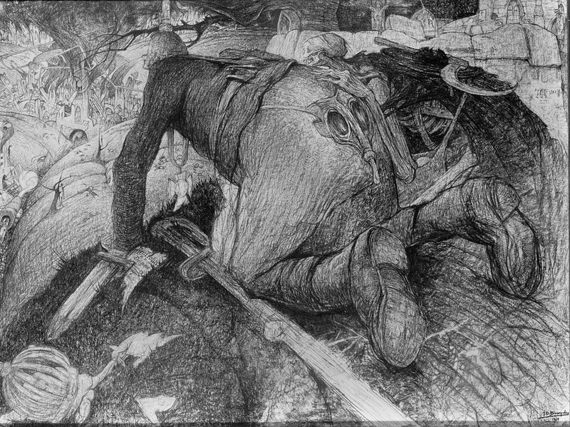 Jules De Bruycker - The Death in Flander  Ypres of Hinderlaag, 1917-18