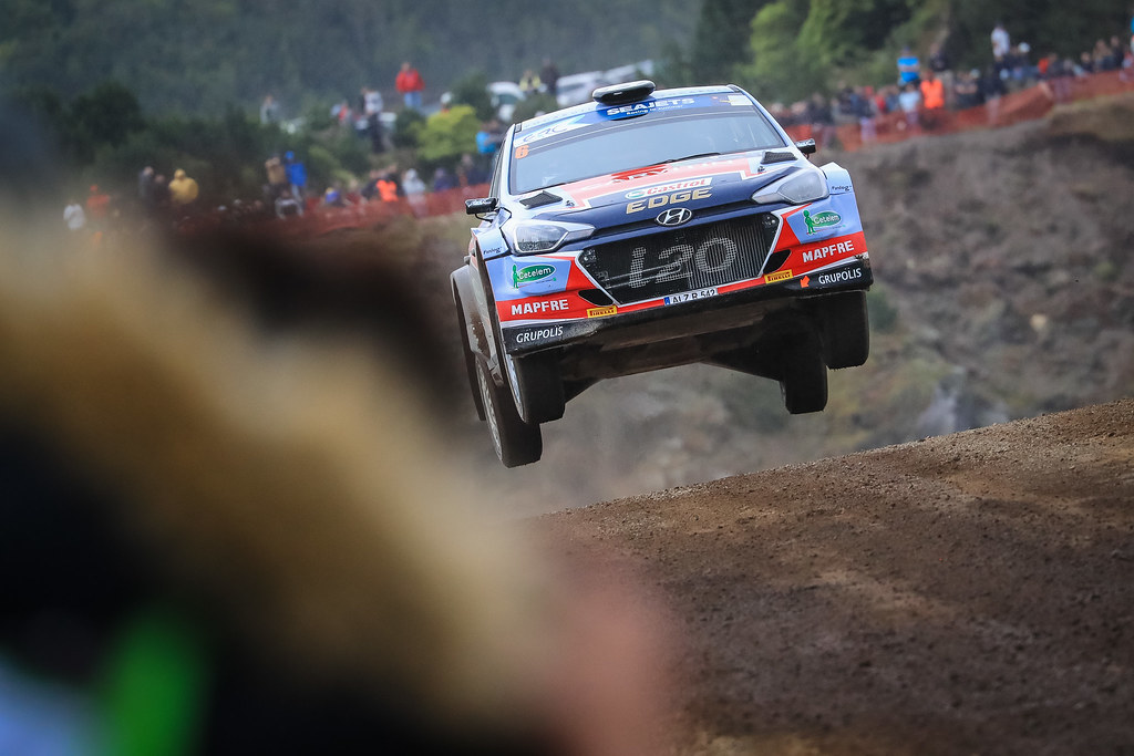 06 VIEIRA Carlos (prt),  CARVALHO Jorge (prt), TEAM HYUNDAI Portugal, HYUNDAI I20 R5, action during the 2018 European Rally Championship ERC Azores rally,  from March 22 to 24, at Ponta Delgada Portugal - Photo Jorge Cunha / DPPI