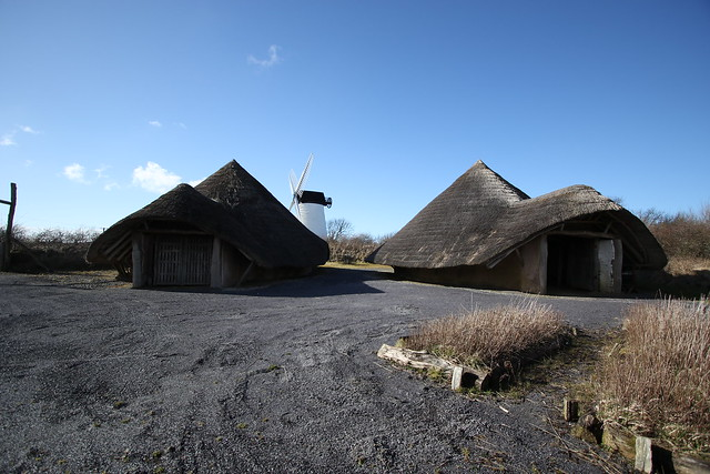 Roundhouses at Llynnon mill