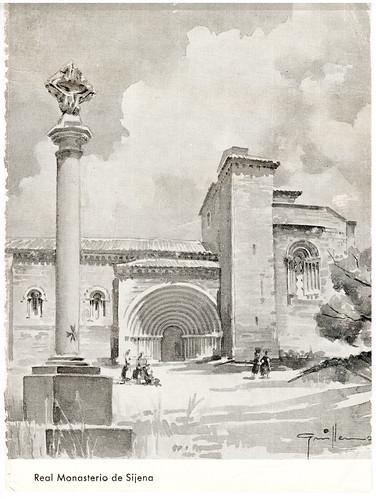Monasterio de Santa María de Sijena, cruz de término y fachada sur
