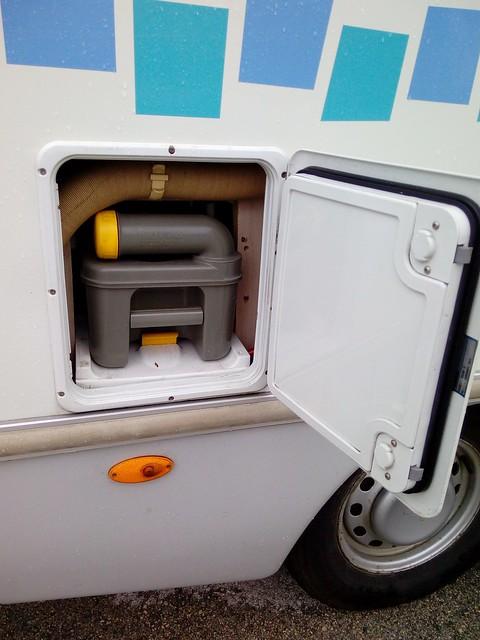 caissette WC avant l'installation du système SOG