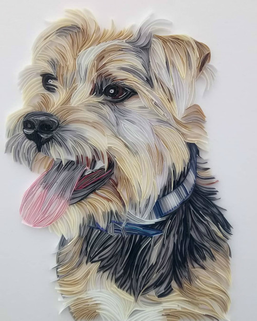 Paper Art Dog Portrait